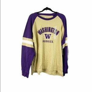 New Washington UW huskies long sleeve shirt XL